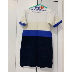 J Crew Shift Colorblock Cotton Dress